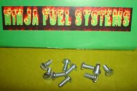 Rochester Quadrajet Carburetor Butterfly Screw 10 Pack 3-48 Slotted Head