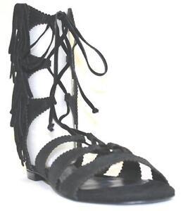 f4101bbc640 Women s Shoes Schutz SONYA Flat Gladiator Sandals Side Fringe Detail ...