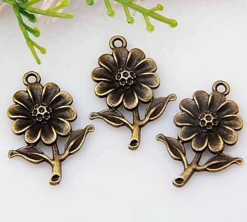 10pcs zinc alloy nice flower charms//pendants 27x20mm 1A1474