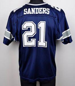 DALLAS-COWBOYS-Jersey-21-SANDERS-Youth-Large-KIDS-Shirt-NFL-American-Football-L