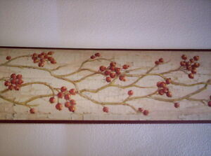 Details About Berries On Branches Prepasted Wallpaper Border Hah15171b