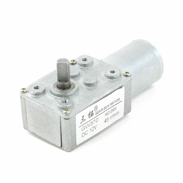 DC 12V 2.4A 13RPM 60KG.cm High Torque Double Shaft Low Speed Gear Box Motor