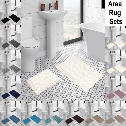 Soft Plush Non Slip Thick Indoor//Kitchen Bathroom Shaggy Chenille Microfiber Rug