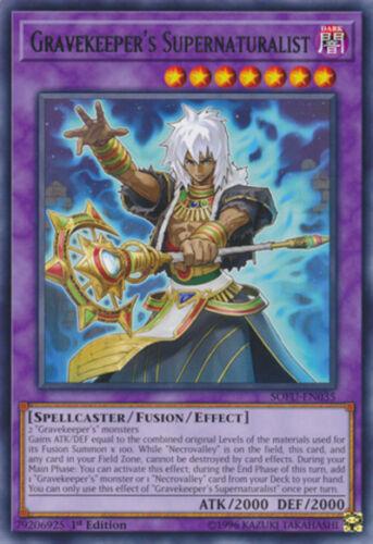 3x Yugioh SOFU-EN035 Gravekeeper/'s Supernaturalist Rare 1ST ED NM