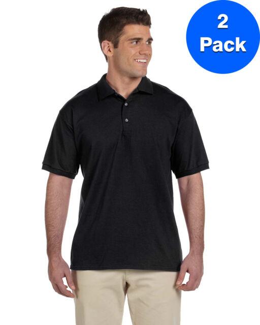 Gildan mens DryBlend 6 oz -BLACK-S-3PK G890 50//50 Jersey Polo with Pocket