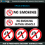 NO-SMOKING-warning-stickers-5-Pack-of-quality-UV-resistant-vinyl-decals-N007
