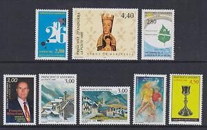 French Andorra  8 issues  um  19949 - Llanelli, United Kingdom - French Andorra  8 issues  um  19949 - Llanelli, United Kingdom