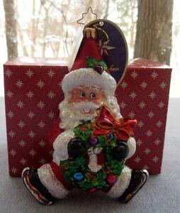 image is loading christopher radko christmas ornament santa baby 1016733 nib