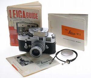 leica m3 camera 35mm film elmar 2 8 50mm mc meter lens cable cap rh ebay com 1954 leica m3 instruction manual 1954 leica m3 instruction manual