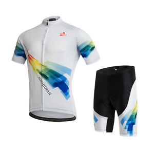a520a2e19 Men s Cycling Set Full Zip Cycle Jersey Shirt   Bike Padded Shorts ...