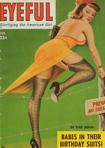 VINTAGE-PETER-DRIBEN-PIN-UP-GIRL-EYEFUL-A3-CANVAS-GICLEE-PRINT-POSTER-6