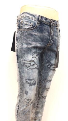 KAYDEN.K Men/'s Wash Destroyed Skinny Fit Denim Jeans Pants Grey 603