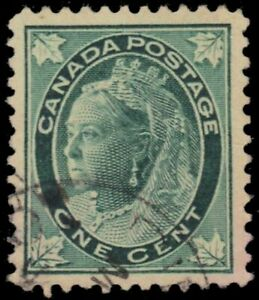 CANADA-67-Queen-Victoria-034-Leaf-034-1897-Blue-Green-pb22375