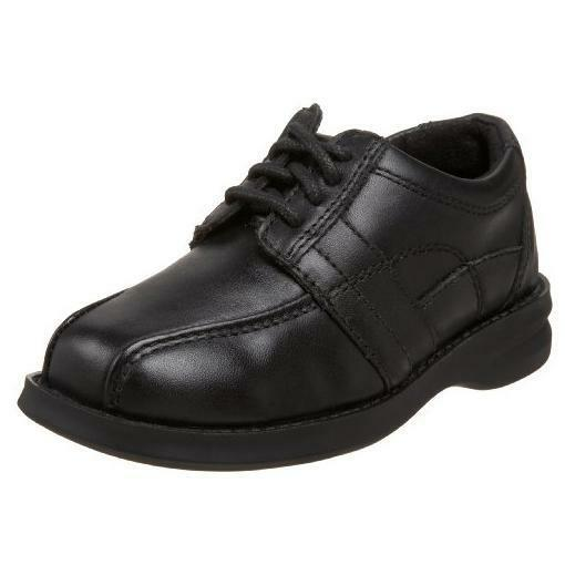 Boys Red Tag Leather School Shoes N1078