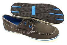 SPERRY Top-Sider Halyard Brown Royal Blue Canvas Boat Shoes NIB Boys 1y EUR 32.5