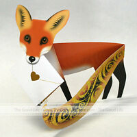 3d Special Delivery Greeting Card - Fox foxy - 123