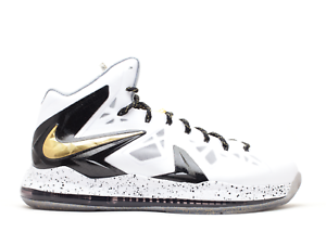 pretty nice 6273c 42334 Image is loading Nike-LeBron-10-X-Elite-P-S-White-Gold-