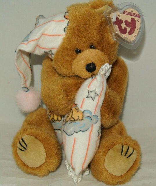 1993 Ty Attic Treasures PRECIOUS Bed Time Bear w pillow 10