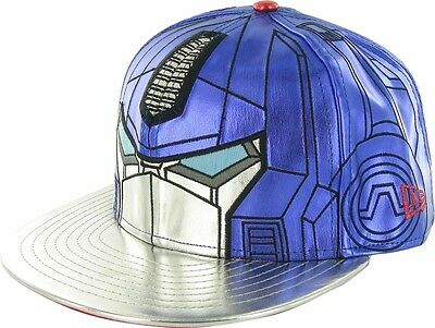 NEW Transformers Exclusive New Era Optimus Prime CHROME Face 59FIFTY Hat 7 5/8