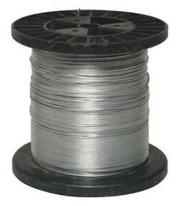 Zoro-Select-4Lvr1-Electric-Fence-Wire-17-Ga-1320-Ft-Steel
