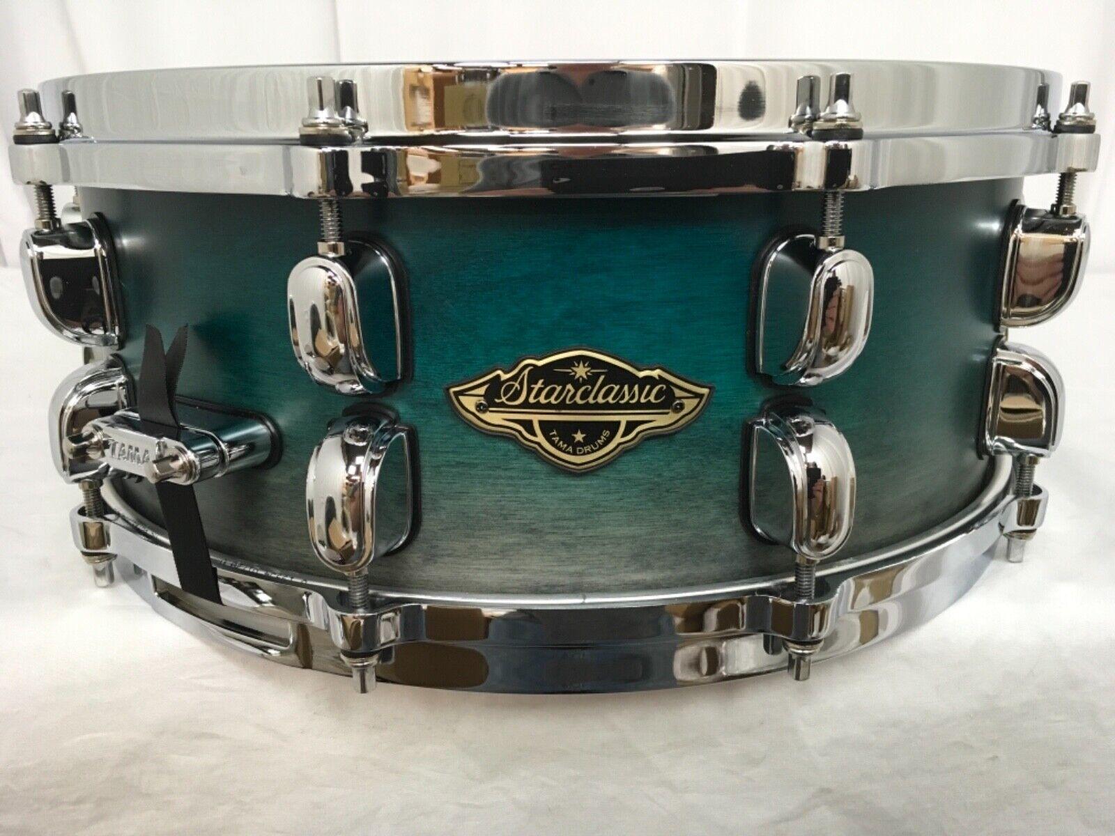 Tama Starclassic Walnut Birch 14  X 5.5  Snare Drum Satin Sapphire Fade New