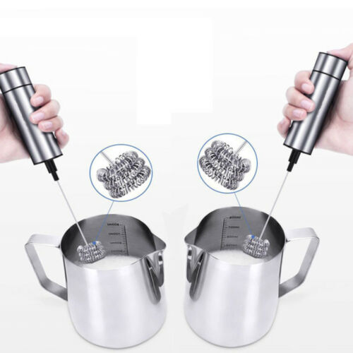 Handheld Egg Beater Powerful Triple Spring Whisk Head Electric Milk Frother