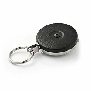 Heavy-Duty-Retractable-Key-Chain-Badge-Holder-Locking-Steel-Belt-Clip-Black-24-034