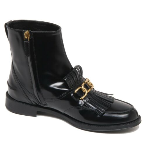 F6882 scarpa donna black TOD'S stivaletto vintage effect sole boot shoe woman