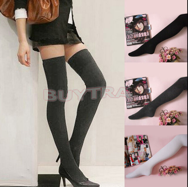NEW Vogue Women's Sexy Long Over The Knee Thigh High Soft Cotton Socks Stockings