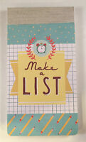 Make A List Notepad List Pad Ruby Taylor 60 Sheets 6 Designs Top Bound