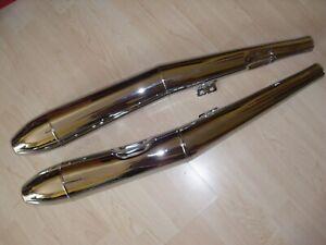 BMW-R-50-5-R-60-5-R75-5-Schalldaempfer-Auspuff-Set-Zigarre-exhaust-silencer-cigar