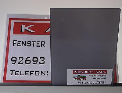 Sicherheitsglas VSG 12 in Farbe grau blickdicht nach Mass gefertigt