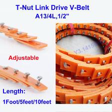 Power Twist Drive T Nut Belt Adjustable Link V Belt A134l12 1ft5ft10ft New