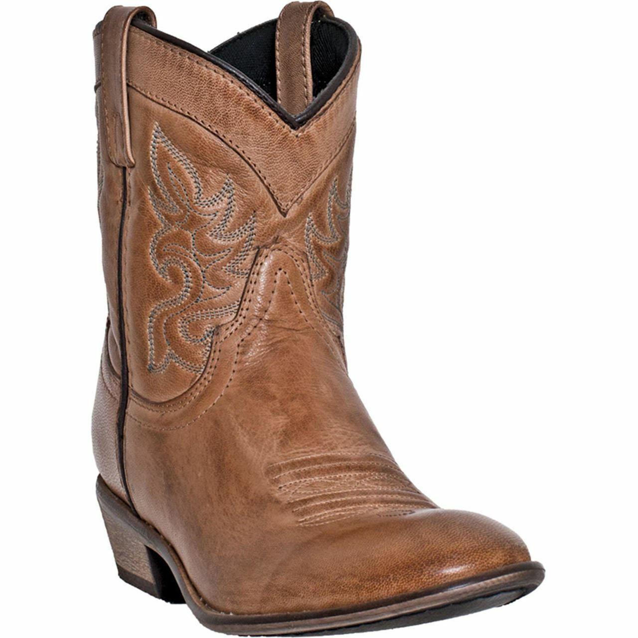 Dingo Women's Western Cowboy Leather Boots DI 862 Antique Tan