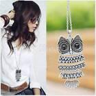 Women Vintage Silver/Copper Owl Pendant Necklaces Long Chain Cheap-CA WBC