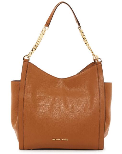 7e56e1d859a2 MICHAEL Michael Kors Newbury Medium Chain Tote Leather Shoulder Bag ACORN   328