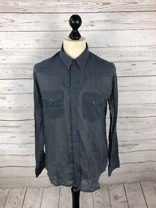 ALLSAINTS-Shirt-Size-Medium-Blue-Great-Condition-Men-s
