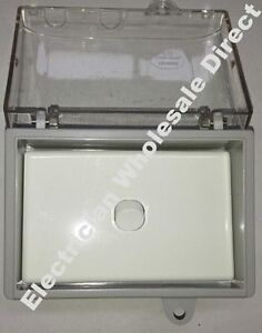 Weather-proof-1-gang-SWITCH-Protected-WATER-PROOF-Enclosure-Lock-Clear-Lid-GPO