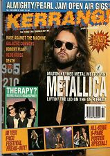 Metallica on Kerrang Cover 1993   Joe Elliott of Def Leppard   Danzig   Therapy?