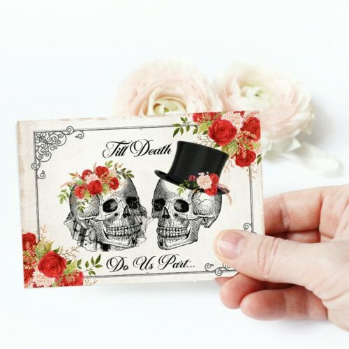 Tags Skull Wedding Card Toppers Gift Tags Cardmaking Gothic Cards Favors