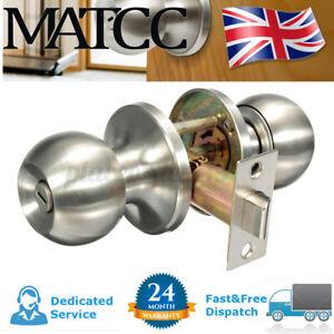 Door Knobs Handles Entrance Privacy Passage Lock Latch Lever Bathroom Toilet UK
