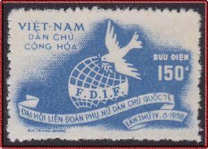 VIETNAM-du-NORD-N-141-Emis-Neuf-sans-Gomme-1958-North-Vietnam-NGAI-MNH