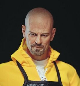 █ Custom Walter White 1/6 Head Sculpt Wolfking ELEVEN for Narrow Shoulder Body █