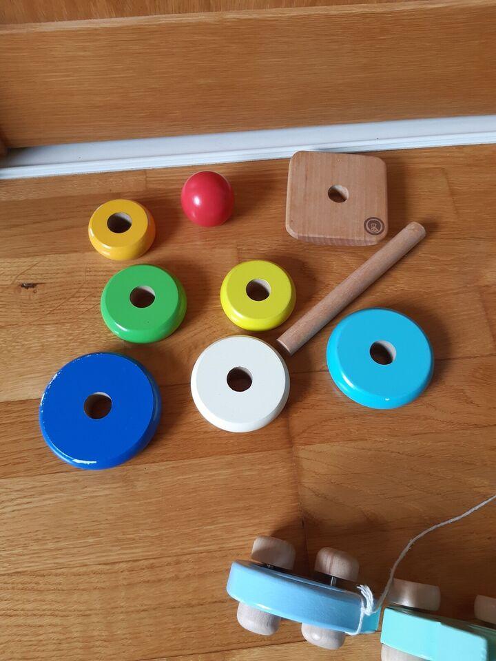 Træ legetøj 4 stk, Blandet, blandet babylegetøj