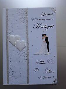 Details Zu Romantisches Hardcover Gästebuch Hochzeit Erinnerung Geschenk Weißsilbera4