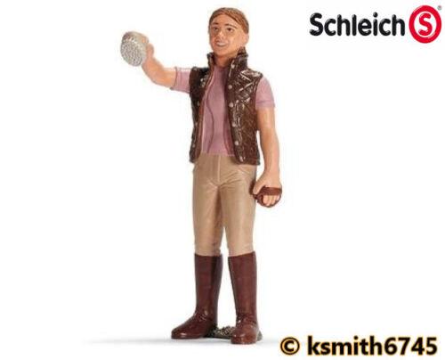 NUOVO Schleich Cavallo badante di plastica toy Donna Lady stabile Mano addestratore