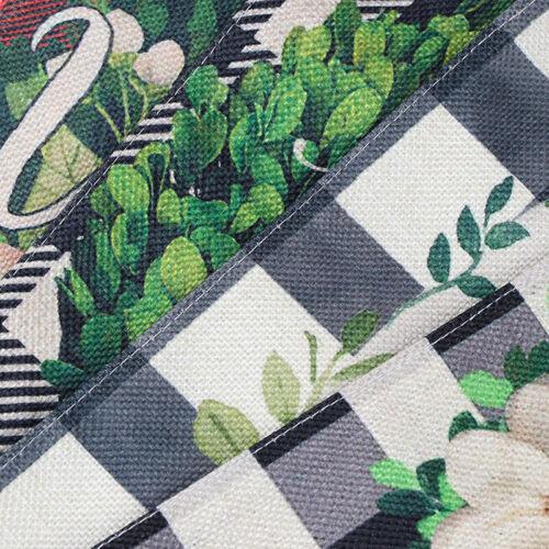 Welcome Buffalo Boxwood Wreath Fall Garden Flag Autumn Burlap Outdoor De EW