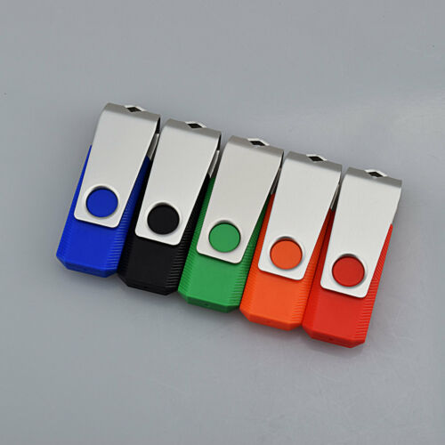 5PCS 8GB USB 2.0 Flash Drive Swivel Design Rotating Flash Memory Stick Thumb Pen
