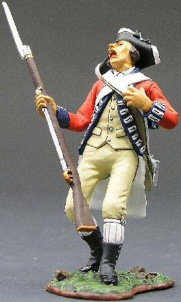 KING & COUNTRY BRITISH REVOLUTIONARY BR050 REDCOAT WOUNDED MIB
