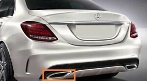 NEW GENUINE MERCEDES MB C CLASS W205 AMG EXHAUST TAIL PIPE CHROME TRIM LEFT N//S